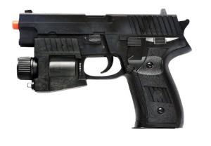 פנס המחובר לאקדח