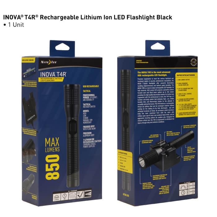 Nite Ize Inova T4R Rechargeable Tactical led Flashlight Pack