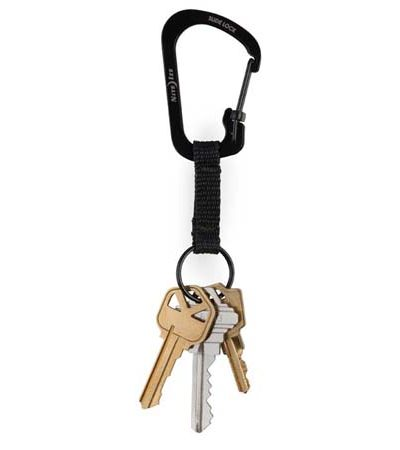SlideLock Key Ring Black