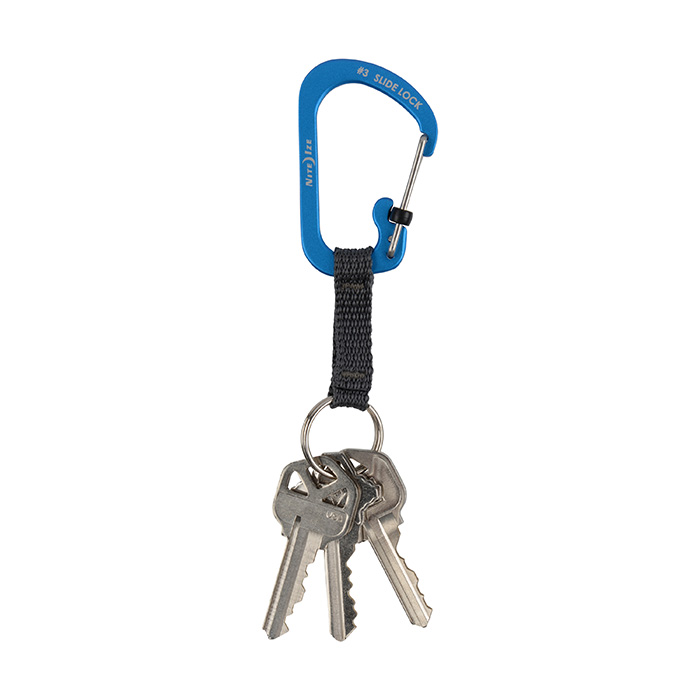 SlideLock Key Ring Blue