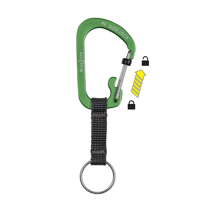 SlideLock Key Ring Lime