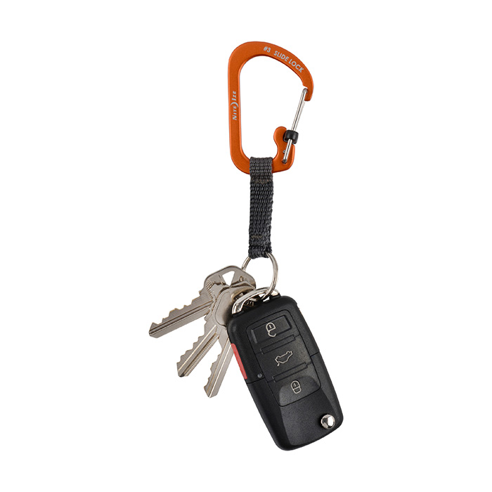 SlideLock Key Ring Orange